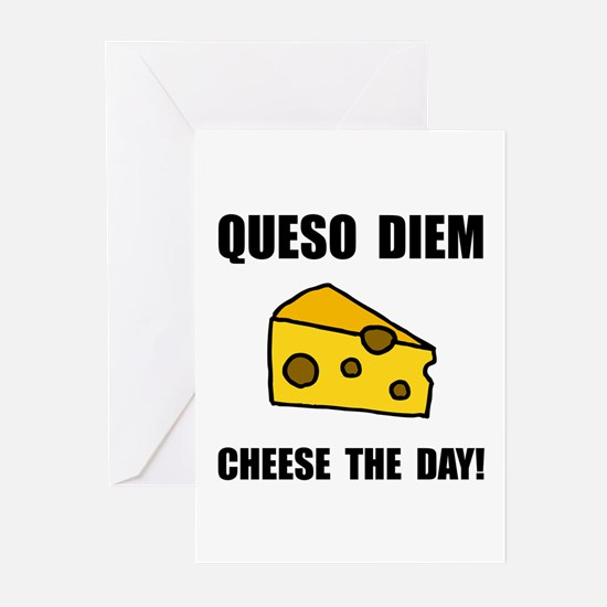 Queso Diem Greeting Cards