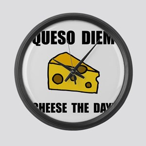 Queso Diem Large Wall Clock