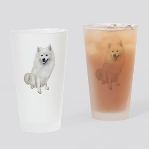 American Eskmio Dog Drinking Glass