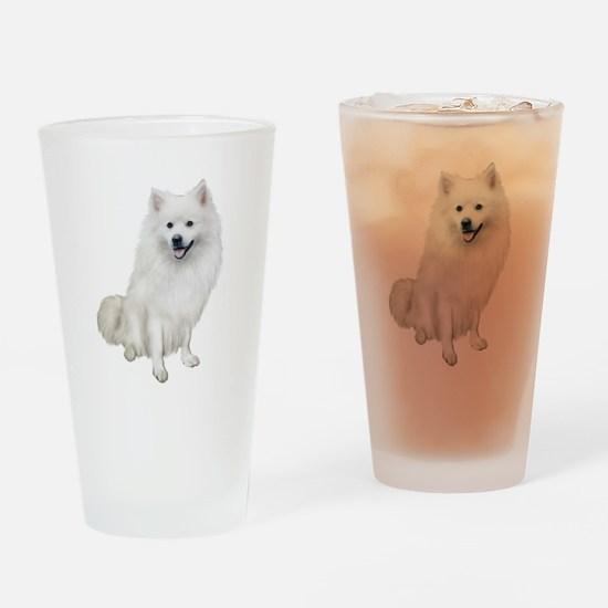 American Eskmio Dog Drinking Glass