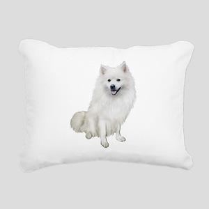 American Eskmio Dog Rectangular Canvas Pillow