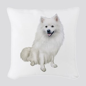American Eskmio Dog Woven Throw Pillow