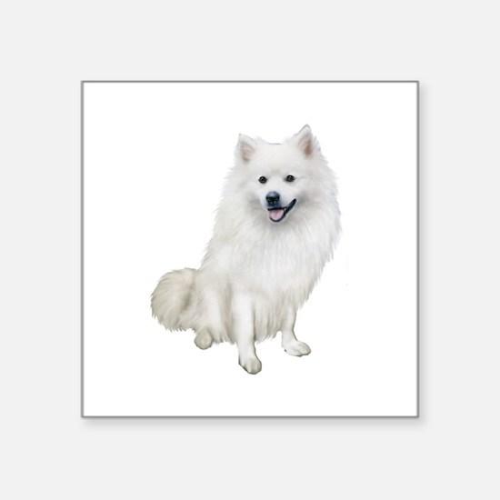 """American Eskmio Dog Square Sticker 3"""" x 3"""""""