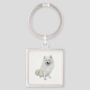 American Eskmio Dog Square Keychain