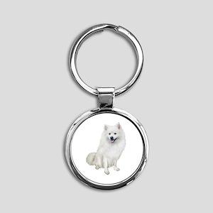 American Eskmio Dog Round Keychain