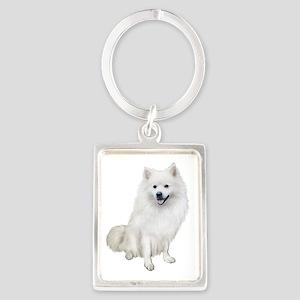 American Eskmio Dog Portrait Keychain