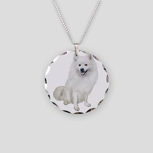 American Eskmio Dog Necklace Circle Charm