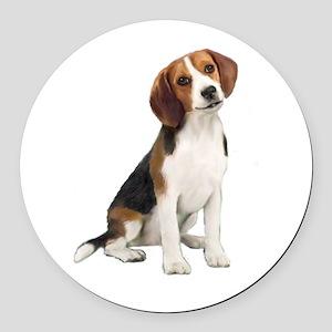Beagle #1 Round Car Magnet