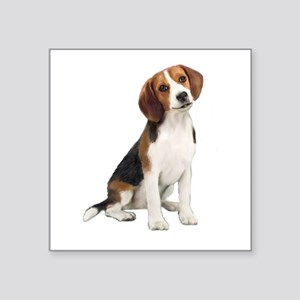 "Beagle #1 Square Sticker 3"" x 3"""