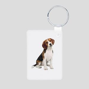 Beagle #1 Aluminum Photo Keychain