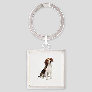 Beagle #1 Square Keychain