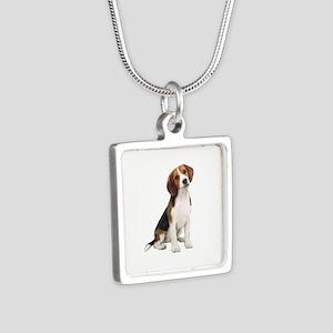 Beagle #1 Silver Square Necklace