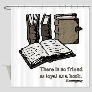 Books-3-Hemingway Shower Curtain