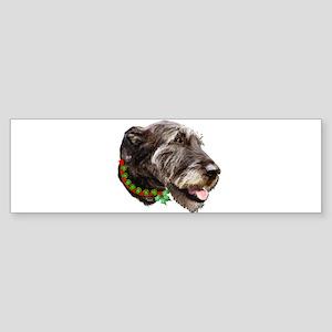 Irish Wolfhound Christmas Sticker (Bumper)