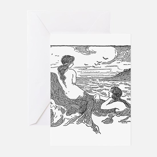Latimer J Wilson Mermaids Greeting Cards