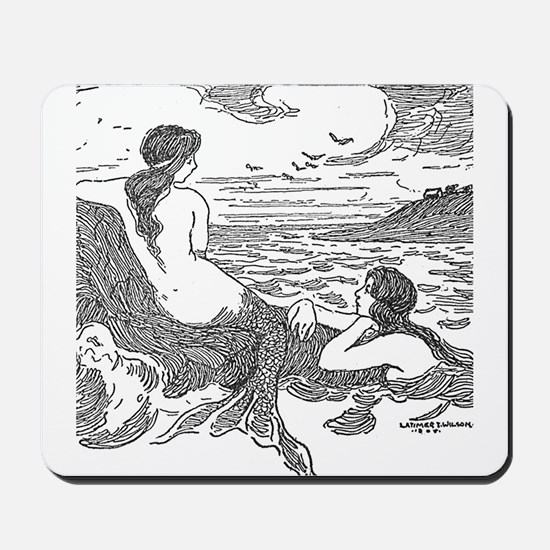 Latimer J Wilson Mermaids Mousepad