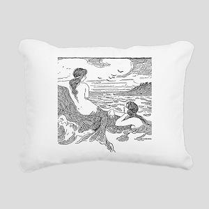 Latimer J Wilson Mermaids Rectangular Canvas Pillo