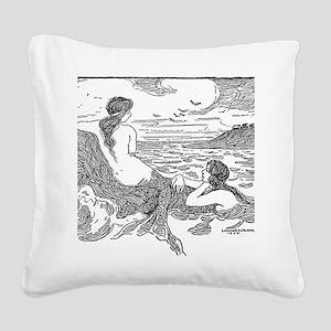 Latimer J Wilson Mermaids Square Canvas Pillow