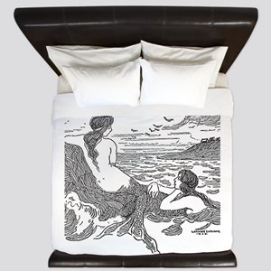 Latimer J Wilson Mermaids King Duvet