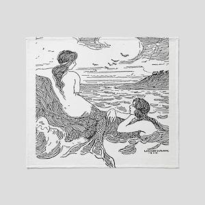 Latimer J Wilson Mermaids Throw Blanket