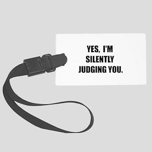 Silently Judging Luggage Tag