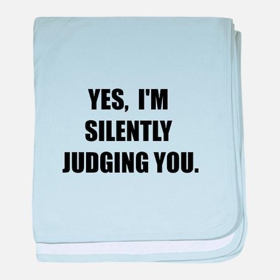 Silently Judging baby blanket