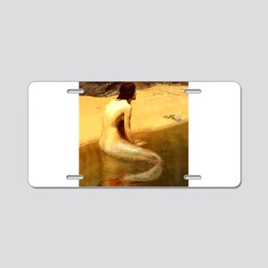 John Collier Mermaid Aluminum License Plate