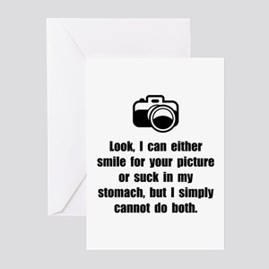 Smile Suck Stomach Greeting Cards