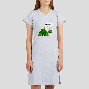 Snail Turtle Ride Women's Nightshirt