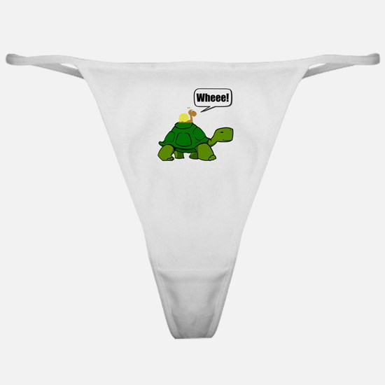 Snail Turtle Ride Classic Thong