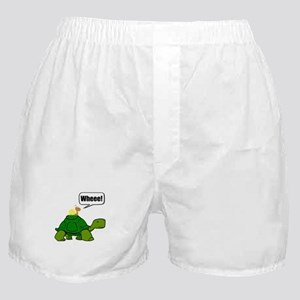 Snail Turtle Ride Boxer Shorts