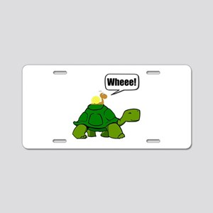 Snail Turtle Ride Aluminum License Plate