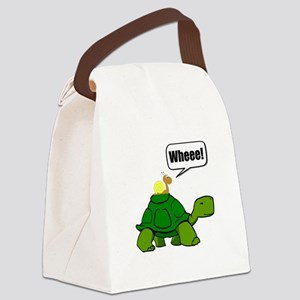 Snail Turtle Ride Canvas Lunch Bag