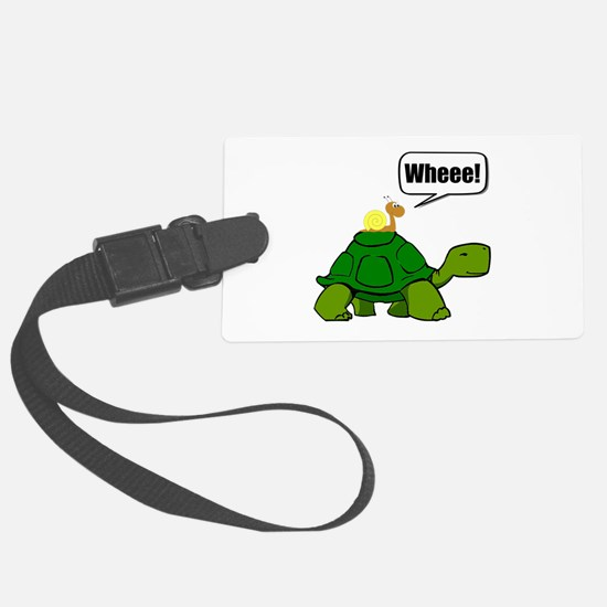 Snail Turtle Ride Luggage Tag