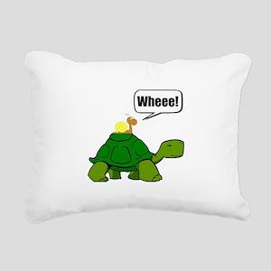 Snail Turtle Ride Rectangular Canvas Pillow