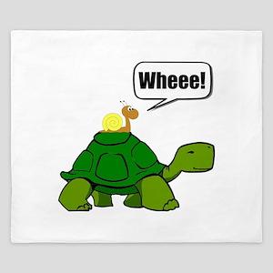 Snail Turtle Ride King Duvet