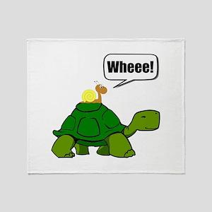 Snail Turtle Ride Throw Blanket