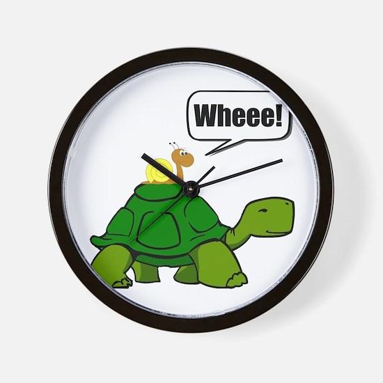 Snail Turtle Ride Wall Clock