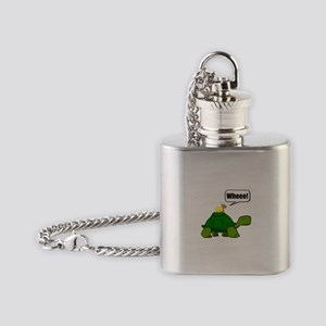 Snail Turtle Ride Flask Necklace