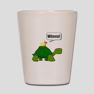 Snail Turtle Ride Shot Glass