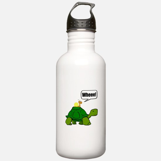 Snail Turtle Ride Water Bottle