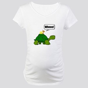 Snail Turtle Ride Maternity T-Shirt