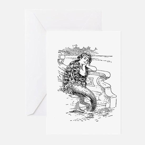 Vintage Mermaid Greeting Cards