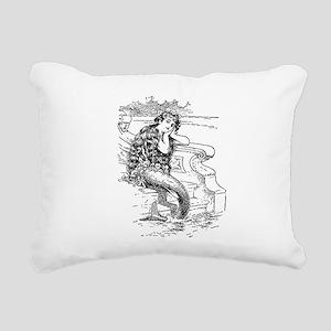 Vintage Mermaid Rectangular Canvas Pillow