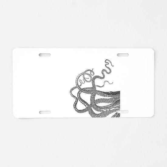 Kraken tentacles Aluminum License Plate