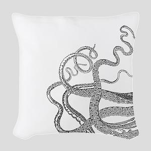 Kraken tentacles Woven Throw Pillow