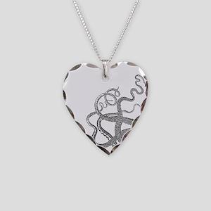 Kraken tentacles Necklace Heart Charm