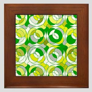 the 70s green round pattern Framed Tile