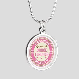 Premium quality Dance teacher Silver Round Necklac