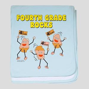 Fourth Grade Rocks baby blanket